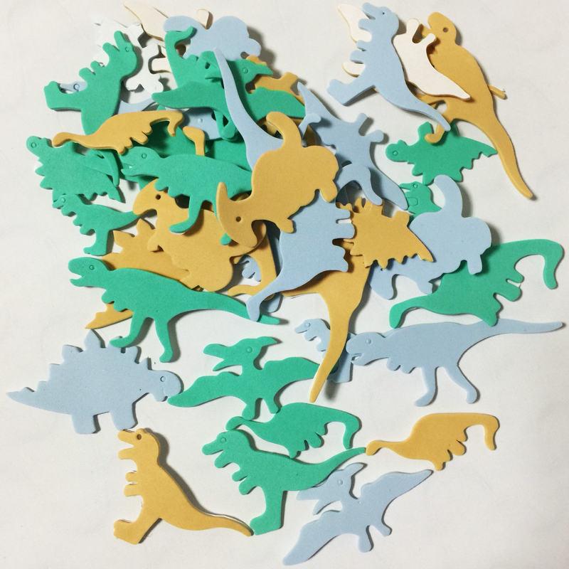 1 упаковка/Партия. Набор для скрапбукинга с изображением животных на ферме. Ранние развивающие игрушки для детского сада художественные поделки игрушки ручной работы howework DIY - Цвет: 40PCS dinosaur