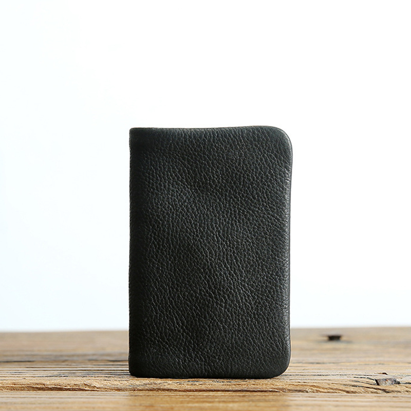 Wallet Women Men Vintage Handmade Short Bifold Small Slim Wallets Quality Genuine Leather Purse Female with Zipper Coin Pocket