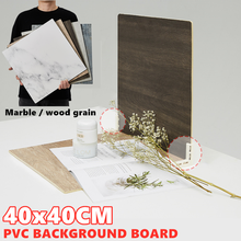 Marbling Photo Backgrounds Wood Grain PVC Backdrop Board Durable Waterproof Realistic Photo for Product Photography Photo Studio