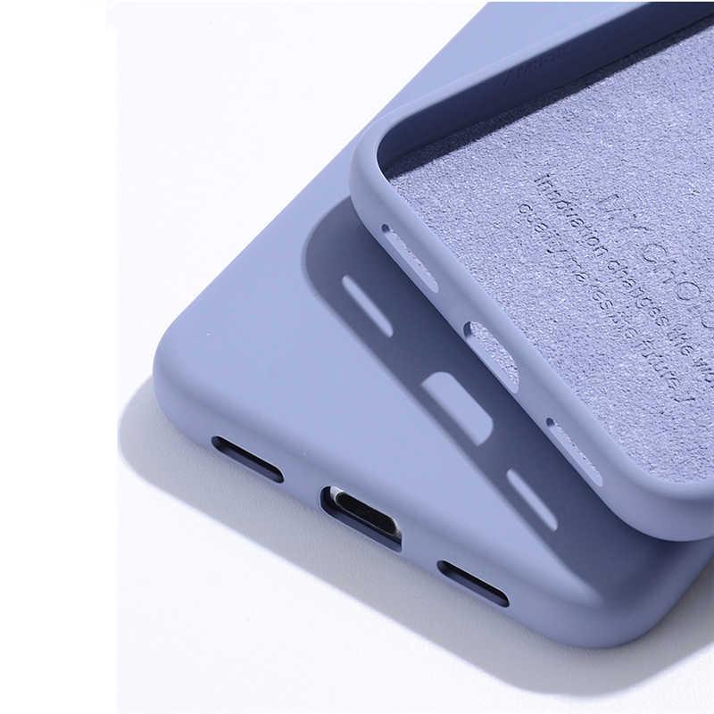 Untuk iPhone SE 2020 Case untuk Apple Iphone 11 Pro Max Cover Asli Silikon Cair untuk iPhone X xr X 5 6 6 S 7 7 Plus