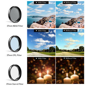 Image 3 - APEXEL 7in1 Full Filter Lens Kit Full Red Yellow Color ND32 CPL Star Camera Lens Filter With 37mm clip for smartphones 37UV F