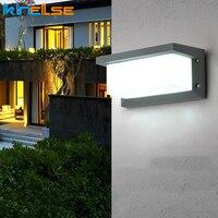 FÜHRTE Wand Licht Wasserdichte IP66 Veranda Licht 18W Radar Motion Sensor Gang Balkon Hof Garten Im Freien Licht AC90 ~ 260V