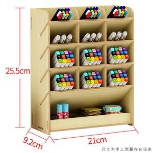 Image 2 - Stift kreative nette lernen blogger multifunktionale lagerung box büro desktop persönlichkeit ornamente stift halter organizer