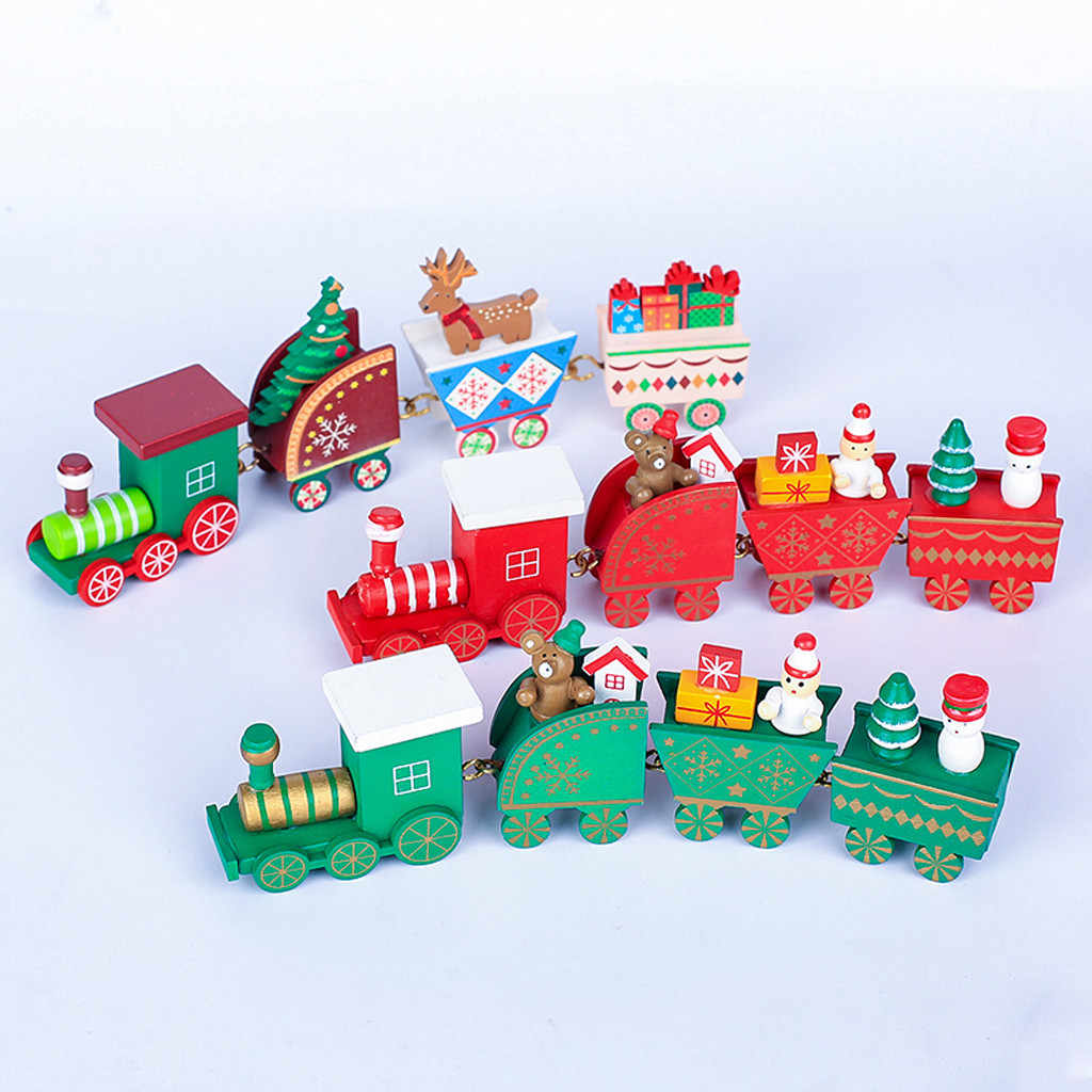 Christmas Wooden Train Table Decoration Decoration For Children S Best Gift Christmas Tree Decoration Small Pendant