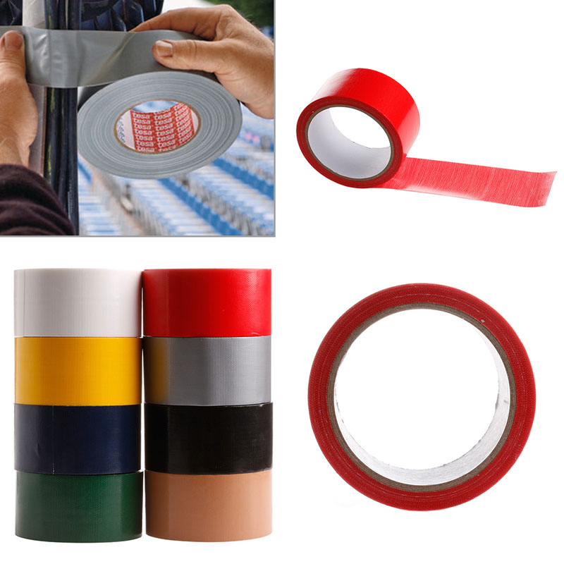 10M x 50mm Waterproof Sticky Adhesive Cloth Duct Tape Roll Craft Repair 8 Color in Office Adhesive Tape from Office School Supplies