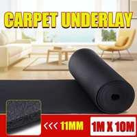 1x10M Luxury Cushion Carpet Underlay Sound Insulation Lounge Hall KTV 11mm Thick Non Slip Rug Underlay Runner Home Accessories
