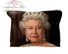 Queen Elizabeth cosmetic bag personalized small makeup bag funny makeup organizer toiletry bag zipper pouch(China)