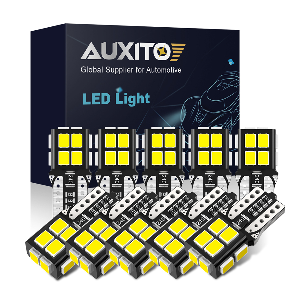 AUXITO NEUE 10Pcs T10 Led-leuchten 2835 SMD W5W Led-lampe Canbus Kein Fehler Auto Innen Beleuchtung Automotive Dome lampe 6000K Weiß