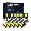AUXITO Новый 10 шт. T10 светодиодный свет 2835 SMD W5W Светодиодный лампочки Canbus без ошибок автомобиля Подсветка салона автомобильной купольная Лампа ...