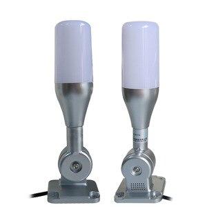 Image 5 - 10 unids/lote lámpara de advertencia Led de una capa Tricolor 24V alarma torre de señal Luz de precaución para máquinas CNC Indicador de luz de seguridad de fallo