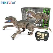 MKTOYS RC Dinosaur Toys for Boys Remote Control Electronic Dinosaurios Robots Indominus Jurassic World T Rex Dinosaure Gift Kids