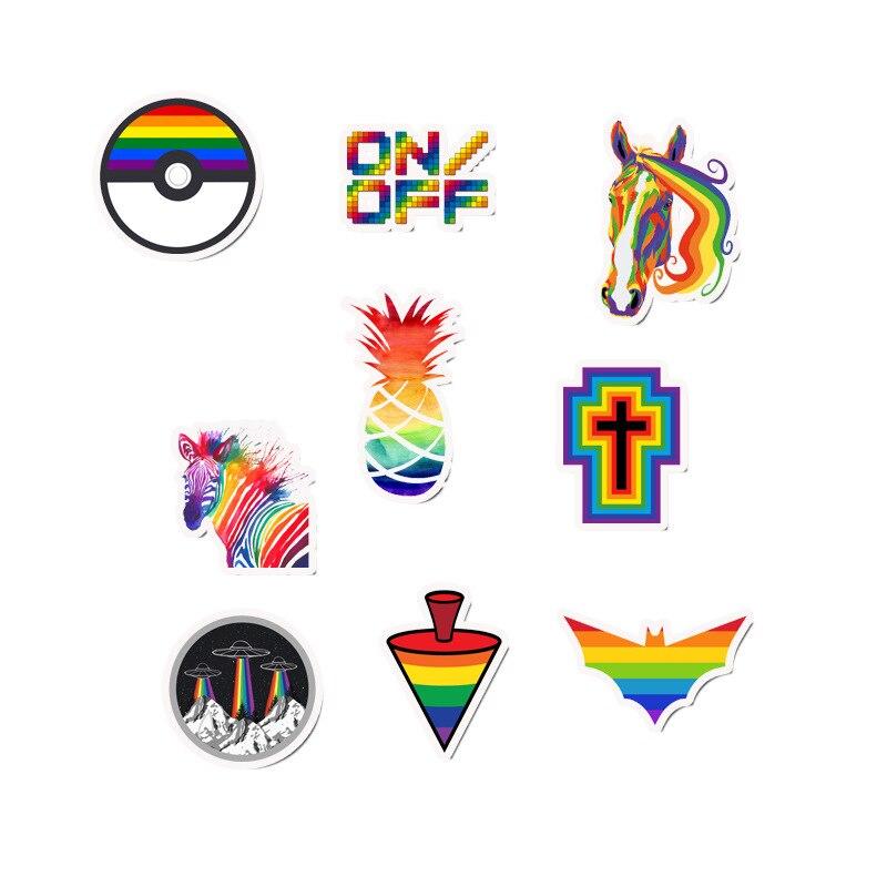 Купить с кэшбэком 50 Pcs/Lot Custom Stickers Naklejki Kawaii School Sticky Sticker Papelaria Colorful, Cool and Lovely Waterproof Sticker TZ107D