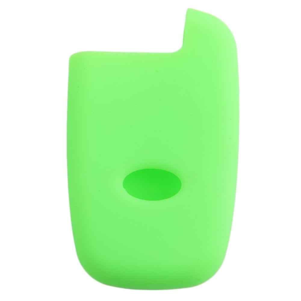 2 renk silikon araba anahtarı kapağı, sıcak satış silikon araba anahtarı kapağı HYUNDAI santa fe için IX45 4 düğmeler akıllı araba anahtarı yeni