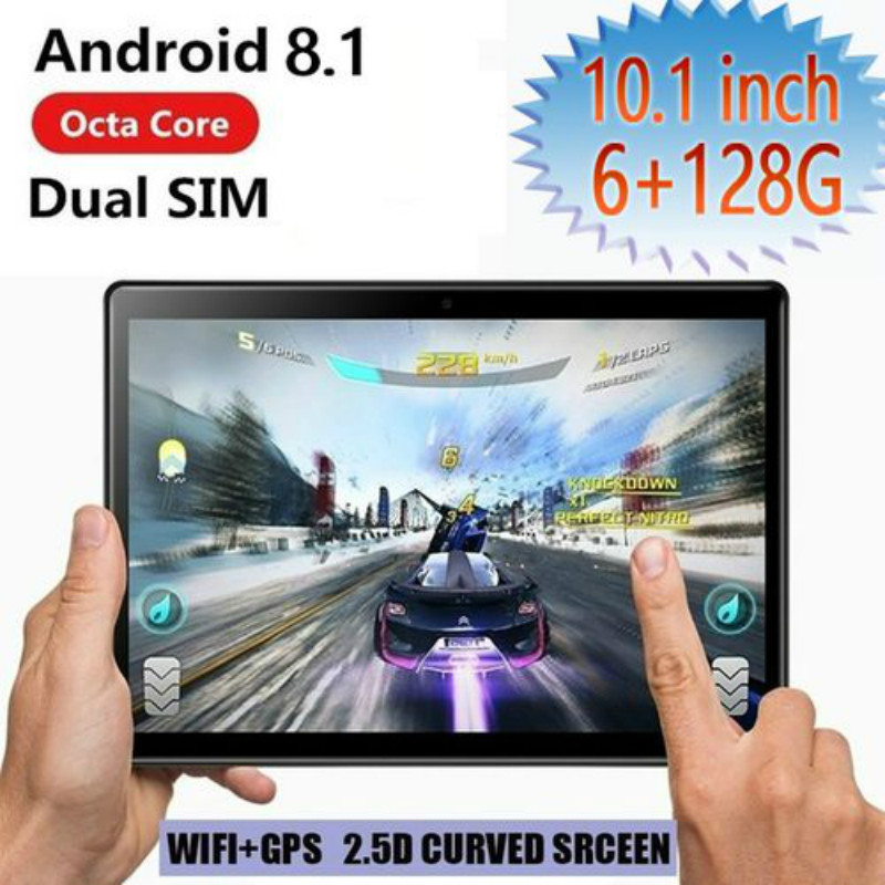 2020 High Quality 2.5 D Screen Android 8.1 10.1 Inch 6G+128G WiFi Tablet PC Dual SIM Dual Camera  Bluetooth 4G WiFi  Tablet PC