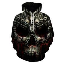 Kafatası 3D baskılı Harajuku Hoodies erkekler kadınlar Hoodies kazak marka S 6XL kaliteli eşofman erkek mont moda dış giyim yeni