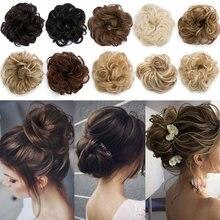 S-noilite пучок кудрявый Updo покрытие пончик-шиньон синтетические волосы женщины шнурок конский хвост шиньоны Черный Коричневый 30 г