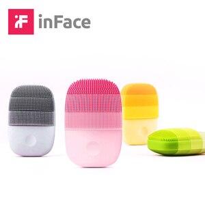 Image 1 - InFace inteligentne Sonic czyste elektryczne głęboko twarzy szczoteczka do masażu oczyszczającego mycia pielęgnacja twarzy czystsze akumulator wodoodporna