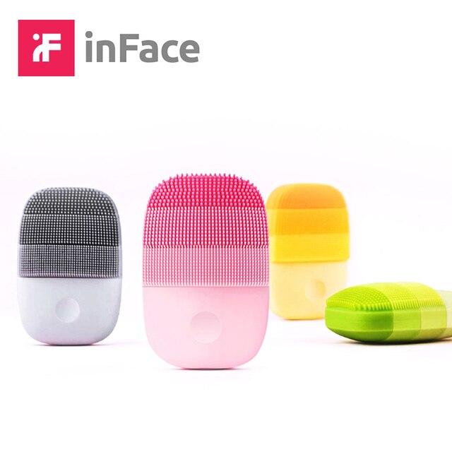 InFace inteligentne Sonic czyste elektryczne głęboko twarzy szczoteczka do masażu oczyszczającego mycia pielęgnacja twarzy czystsze akumulator wodoodporna
