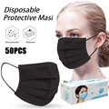 50 шт., одноразовая маска для туши для лица, маска для лица, маска для лица, защита для лица, маска для лица