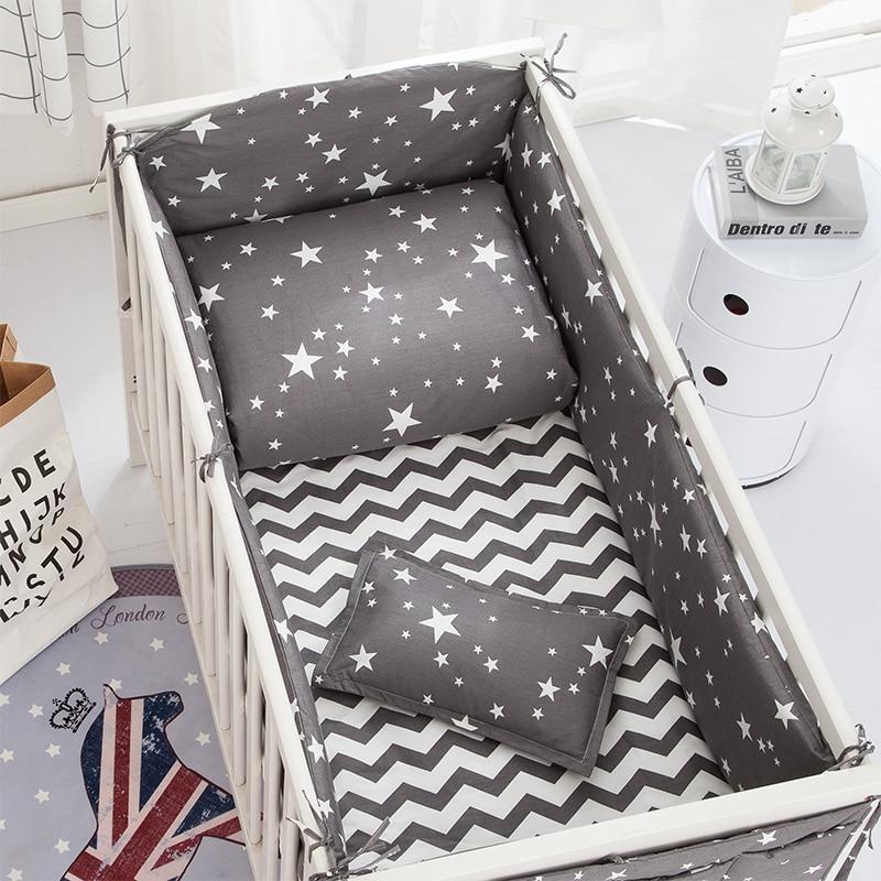 6/9PCS Wave Stars Nordic Baby Bed Bumpers Baby Bed Decor Newborns Toddler Bedroom Crib Sheet Duvet ,120*60/120*70cm