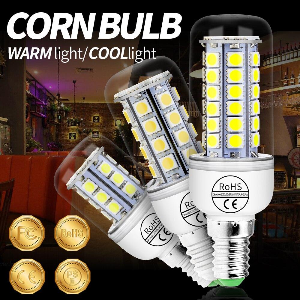 E14 LED Corn Lamp 24 27 30 36 59 LEDs SMD 5050 Lighting Led Lamp E27 Corn Bulb Lamp LED Chandelier For Home Decoration Ampoule