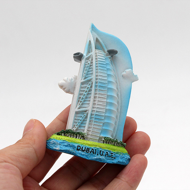 Dubai sailing Hotel souvenir 3D fridge magnets magnetic refrigerator paste home decoration Dubai architecture Collection Gifts 6