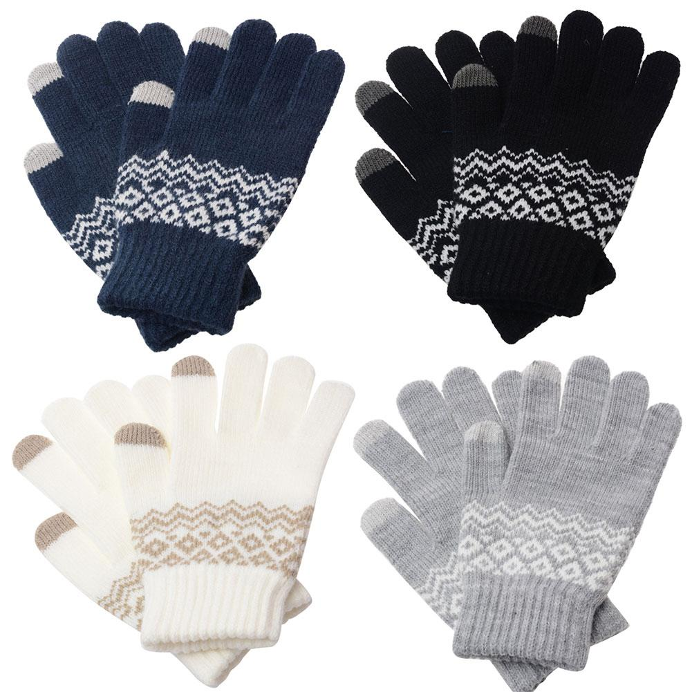 2020Winter Women Non-slip Touch Screen Knitted Gloves Thicken Warm Elastic Mittens Christmas Gift варежки кашемир Mitaine Laine