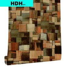 Самоклеящиеся обои из ПВХ, многоцветные водонепроницаемые обои с текстурой древесины, рулон для спальни, гостиной, украшение для стен