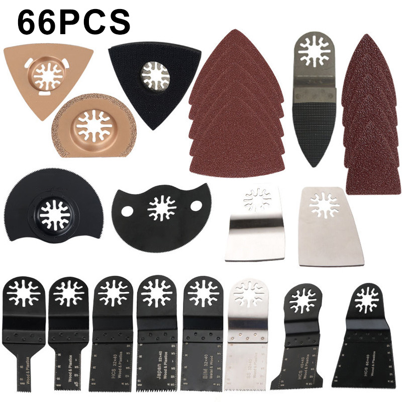 66 Pcs Oscillating Tool Saw Blades For Power Tools As Fein Multimaster BOSCH,Dremel,Makita Multitool Electric Tools Accessories