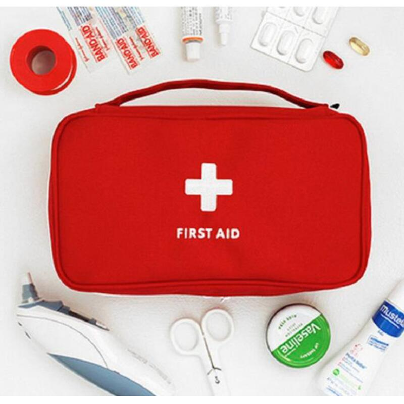 Portable Medium Empty Household Multi-Layer First Aid Kit Pouch Outdoor Car Bag First Aid Bag Survival Medine Travel Rescue Bag.