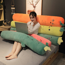 Large Pillow Fruit Plush Toy Long Food Pillow Stuffed Cactus Strawberry Carrot Pineapple Plush Toys Funny Gift Sofa Seat Cushion