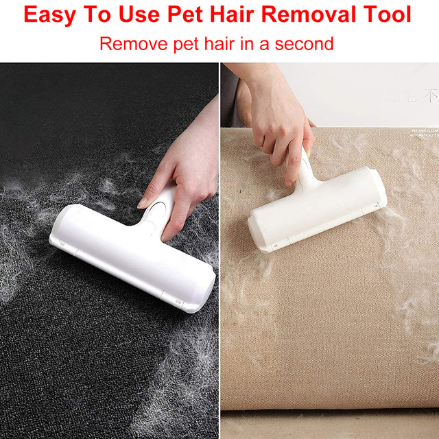 2 Way Pet Hair Remover Roller For Cats And Dogs  2