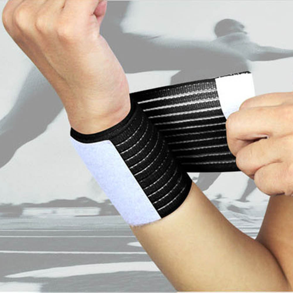 Soft Wristband Sweatband Outdoor Sports Elastic Wrist Band Tennis Basketball Hot Outdoor Sport Elastic Bandage Hand