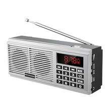 L 518 numérique MP3 lecteur de musique haut parleur Mini Portable Mini balayage automatique FM AM MW récepteur de Radio (argent)