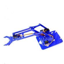 4 BraçO MecâNico Fazer Manipulador DOF Garra Fabricante De AcríLico Unassembly Para Arduino DIY Kit de Aprendizagem
