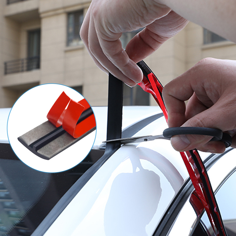 14/19mm Car Seal Strips Automobiles Seal Protection Door Edge Windshield Roof Rubber Sealants Strip Noise Insulation Car Styling