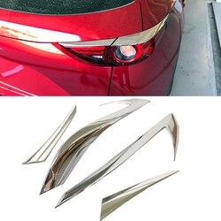 ABS Chrome tylne światło osłony na lusterka obczne wykończenia 4 sztuk dla Mazda CX-5 CX5 2nd Gen 2017 2018 Car styling