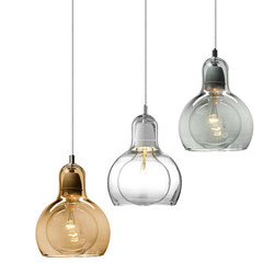 Nowoczesne lampy wiszące czysty bursztyn klosz szklany Loft lampy wiszące E27 220V jadalnia lampy wiszące oświetlenie do dekoracji domu