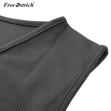 Free Ostrich Blouse 2020 Women Casual Tops Blouse Sexy V Neck Sleeveless Solid Loose Tunic Pullover Blouses N30