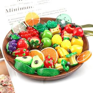 5 teile/los Acryl Apple Erdbeere Trauben Obst Harz Charms Anhänger Ohrring DIY Mode Schmuck Zubehör Für Schmuck Machen