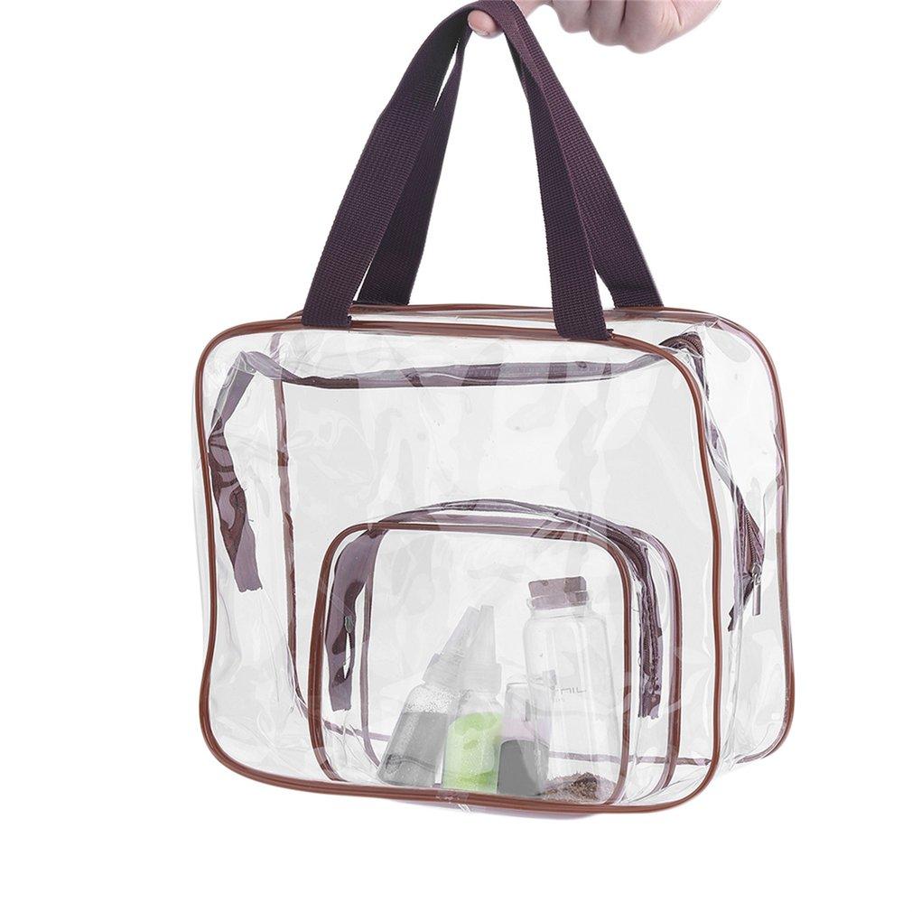3Pcs/set Portable Makeup Cosmetic Toiletry Travel Bath Wash Storage Pouch Transparent Waterproof Bag Organizer Bag