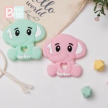 5pc Silicone Elephant Bead Pendant Baby Teether Food Grade S