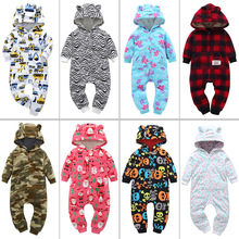 2019 New Childrens Padded Jumpsuit Hooded Child Romper Baby Suit Home Service Clothes Newborn