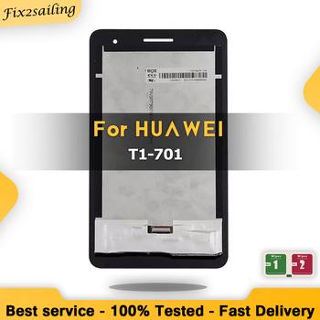 7 0 #8222 nowy LCD dla HUAWEI MediaPad T1 7 0 701 T1-701 T1-701U T1-701UA wyświetlacz LCD ekran dotykowy Digitizer z bez ramki wymiana tanie i dobre opinie fix2sailing NONE Tablet LCD CN (pochodzenie) 7 ~ 10 cal For HUAWEI MediaPad T1 7 0 701 T1-701 Ekran pojemnościowy White Black