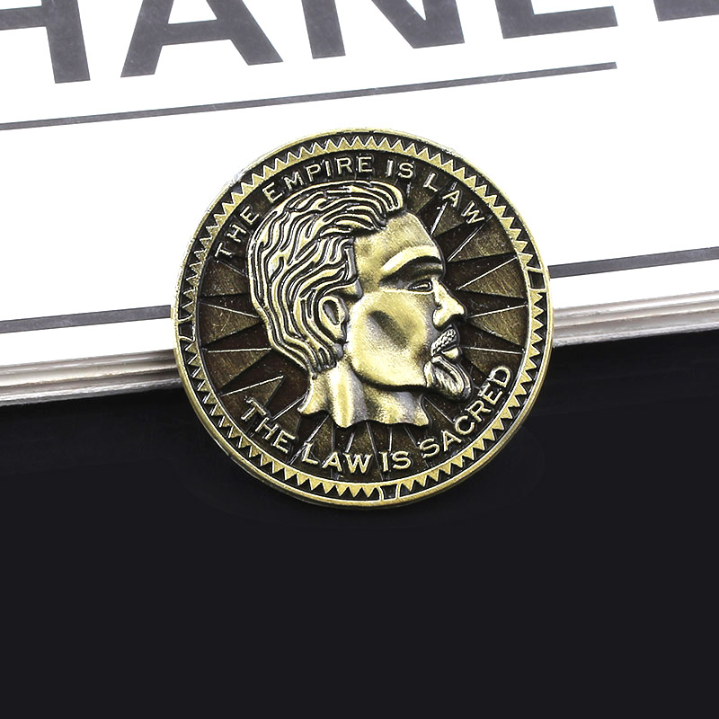 SG New Game The Elder Scrolls V Septim Coin Keychain Souvenir Coin With Box Keyring For Game Fans Jewelry