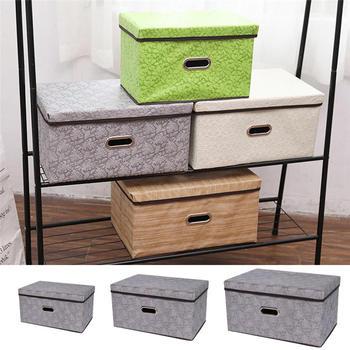 Caja de almacenamiento plegable grande del cajón del organizador caja de tela no tejida para el organizador de los residuos del libro del juguete caja de almacenamiento del guardarropa del hogar