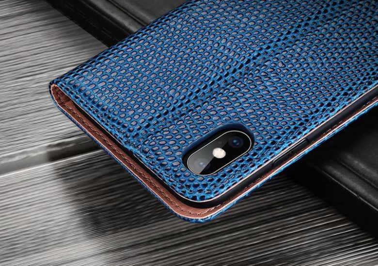 Eidechse Muster Echtem Leder Fall Für iphone X XS MAX 7 8 Plus XR Karte Halter Fall Für galaxy S10 plus note9 fällen, ckhb-PT