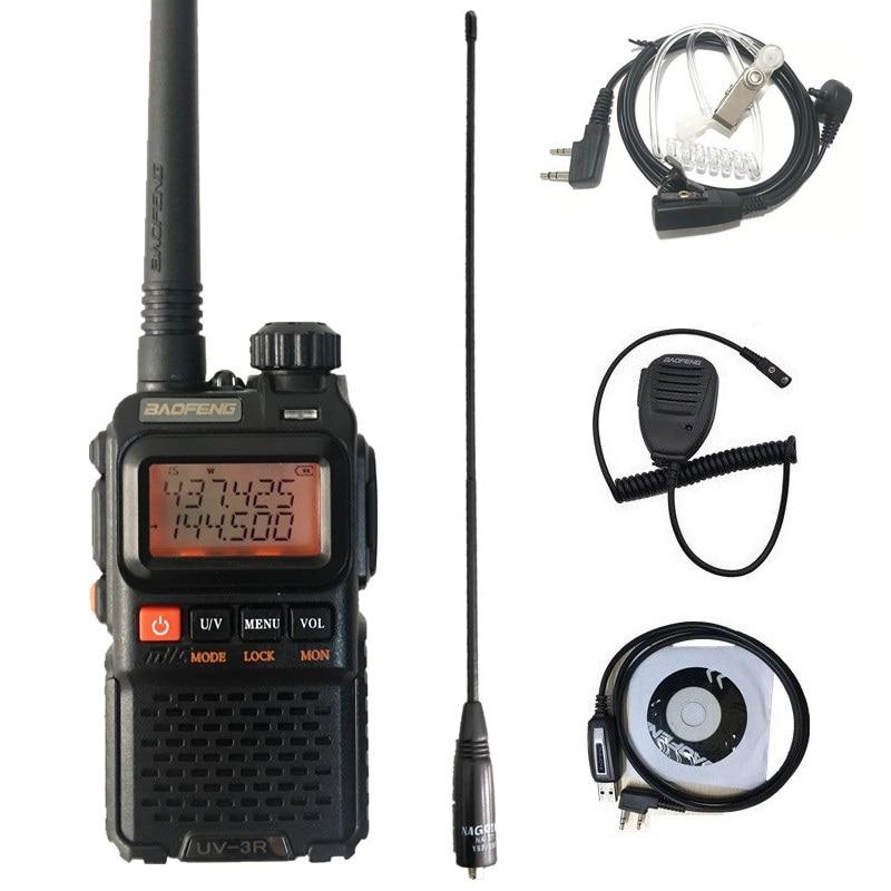 BAOFENG UV-3R+ Plus Mini Walkie Talkie UHF VHF Dual Band Portable Ham CB Radio Mobile Transceiver UV3R Plus Scaner Radio Station