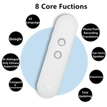 T4 Muama Enence Smart Bluetooth Voice Translator Upgrade Version for Learn Travel Meeting 3 in 1 TEXT Photo Language Translator(China)