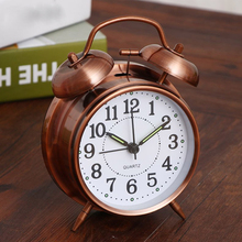 Snooze Function Creative Retro Alarm Clock Twin Bell With Stereoscopic Dial Backlight Desk Loud